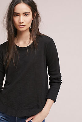 Slide View: 1: Wilt Ruffled Shirttail Tee