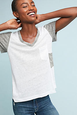 Slide View: 1: Wilt Colorblocked Linen Tee