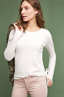 Slide View: 1: Pearl Ruched Pullover