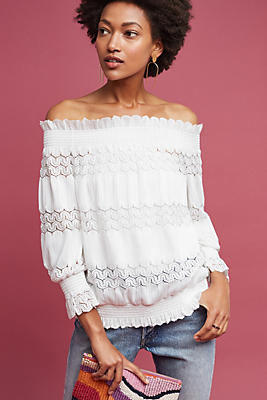 Slide View: 1: Riley Off-The-Shoulder Top