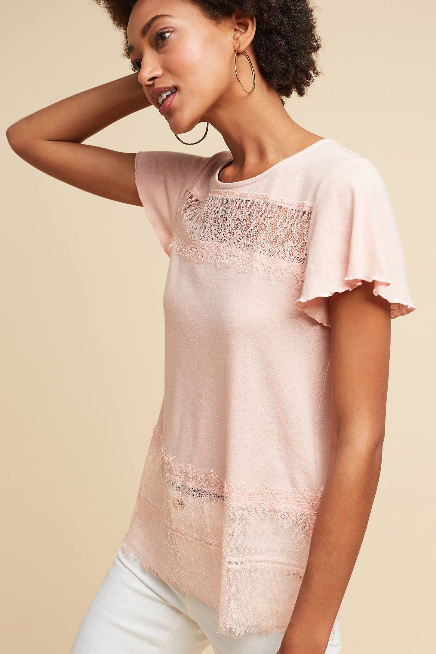 Linen & Lace Tee