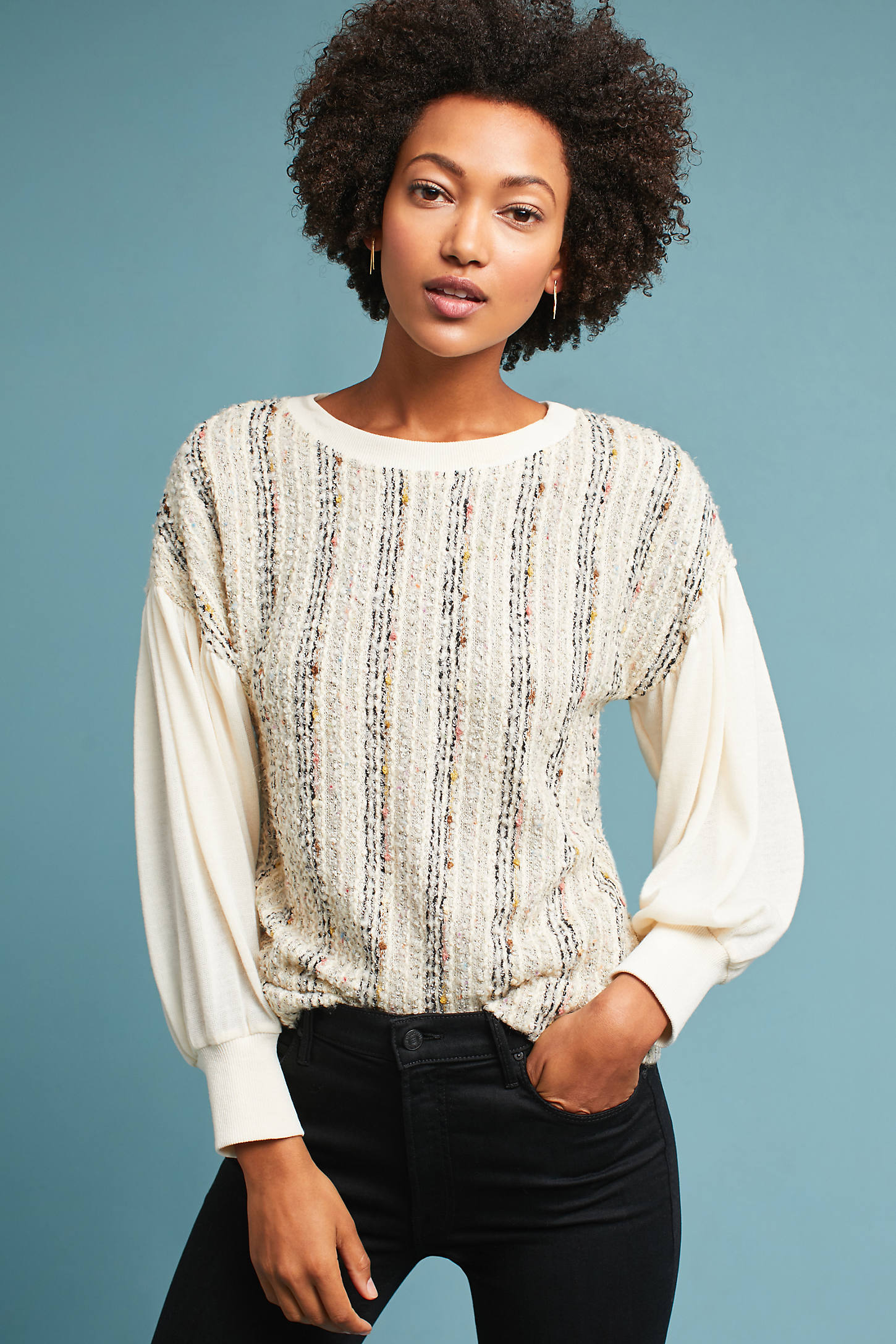 Landry Textured Sweatshirt