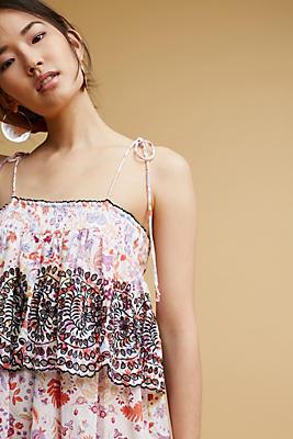 Slide View: 1: Samsa Embroidered Sundress