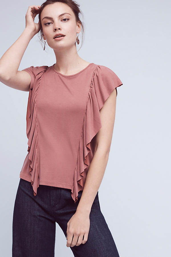 Slide View: 1: Linear Ruffled Top