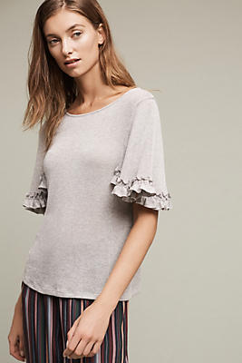 Argento Ruffle-Sleeve Top