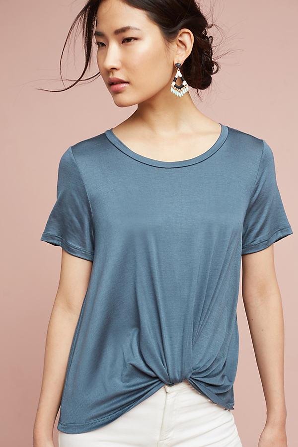 Thienne Twist-Front Top - Dark Blue, Size M