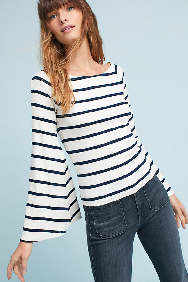 Winslow Boat Neck Top - Navy, Size S