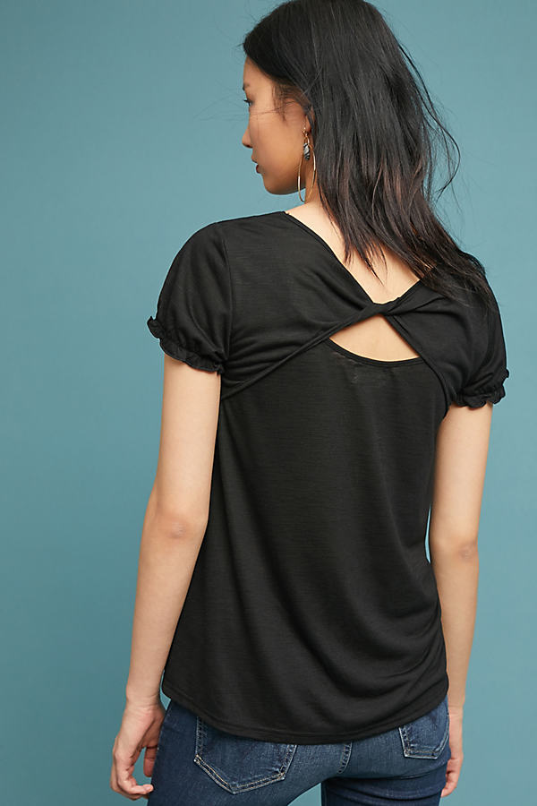 Wabamun Back-Twist Tee - Black, Size Xs