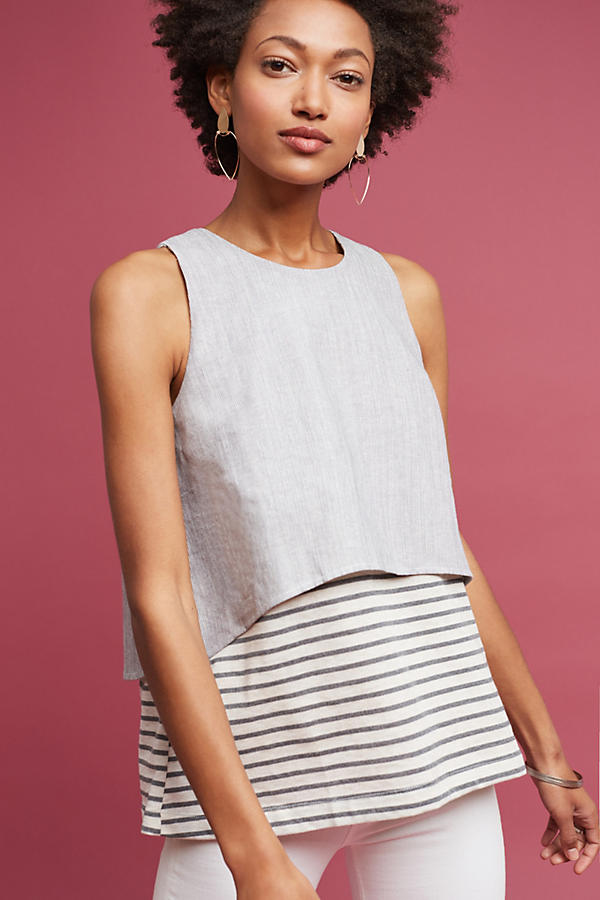 Slide View: 1: Layered & Striped Top