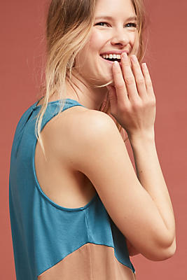 Slide View: 1: Colorblocked Sleeveless Tunic