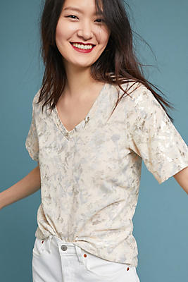 Slide View: 1: Sol Angeles Foiled Floral Tee