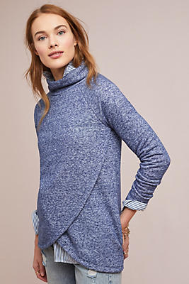 Slide View: 1: Sol Angeles Funnel-Neck Pullover