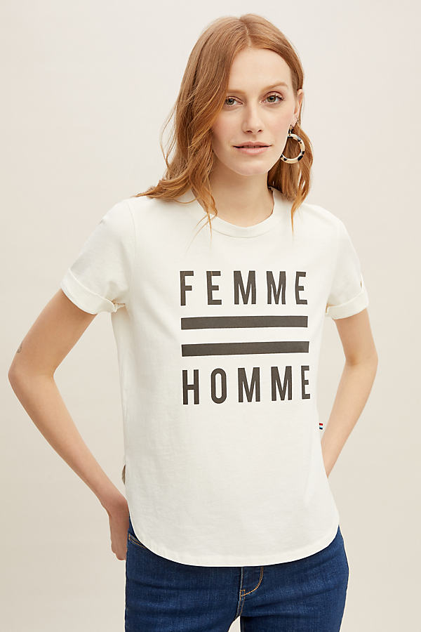 Sol Angeles Femme Homme Tee - White, Size Xs