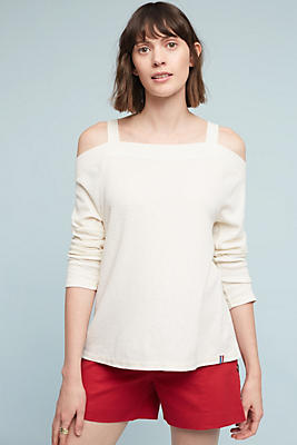 Slide View: 1: Reyes Open-Shoulder Top