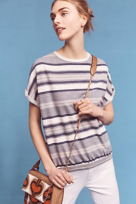 Slide View: 1: Annabel Striped Top