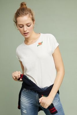 MOTHER   MOTHER The Rose Tee  -    WHITE