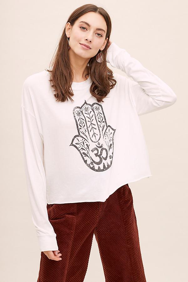 Hamsa Graphic Tee - White, Size L
