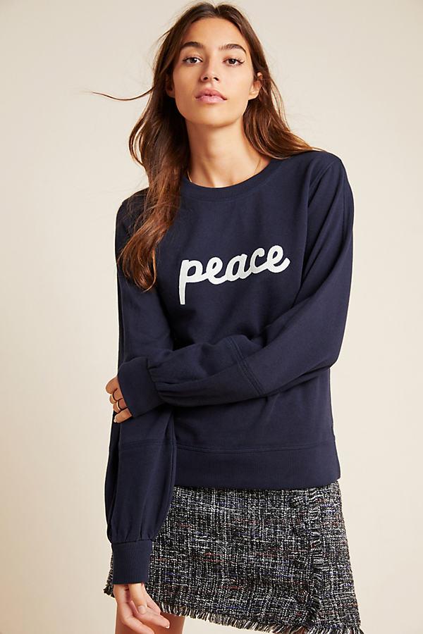 Ashley Brown Durand Affirmation Sweatshirt - Blue, Size M