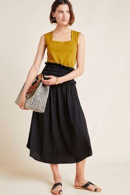 eed0348bd522 Imogen Pleated Maxi Dress $438. Elodie Jacquard Tank $58