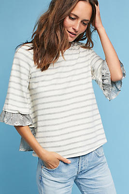 Slide View: 1: Bree Lace-Up Tee