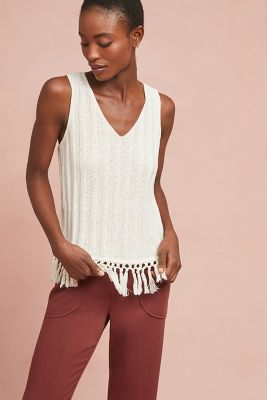 Beachcomber Fringed Tank by Eri + Ali