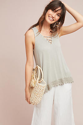 Slide View: 1: Merriam Lace-Up Tank