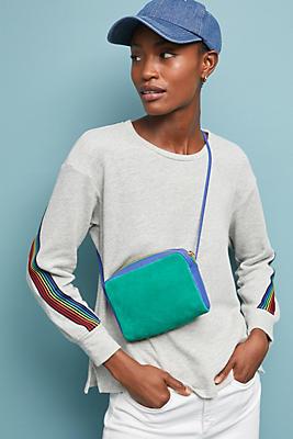 Slide View: 1: Rainbow Striped Sweatshirt