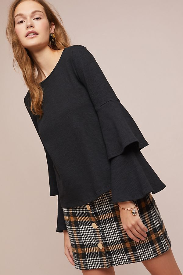 Slide View: 3: Tiered Ruffle Top