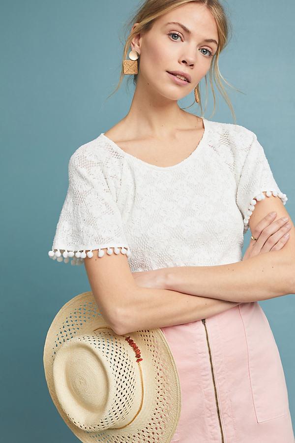 Bianca Lace Top - White, Size L