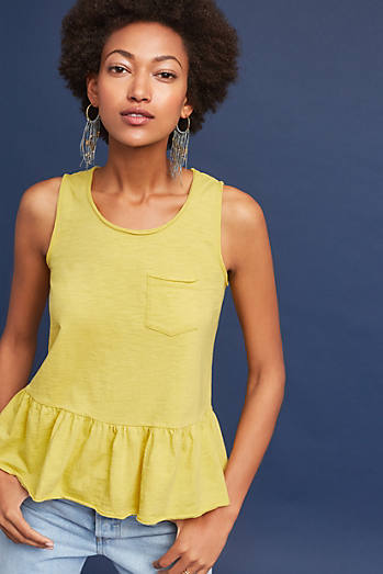 Peplum Pocket Tank