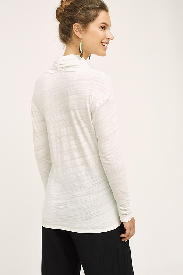 Slide View: 2: Dipped Cowl Tee