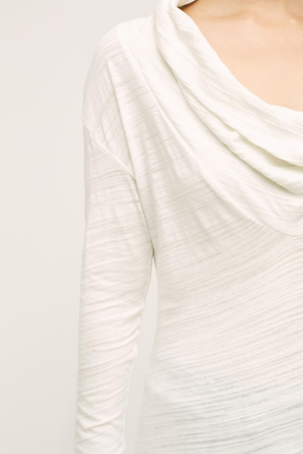 Slide View: 3: Dipped Cowl Tee