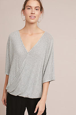 Slide View: 1: Textured Wrap Top