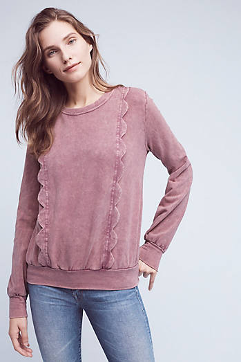 Weckerlie Scalloped Sweatshirt