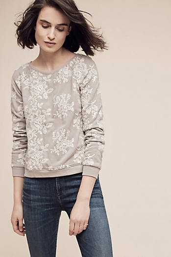 Embroidered Flora Sweatshirt