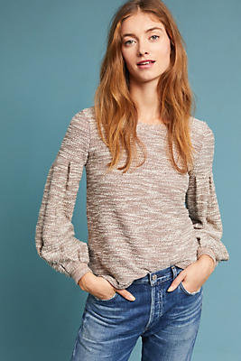 Slide View: 1: Gwyneth Balloon-Sleeve Pullover