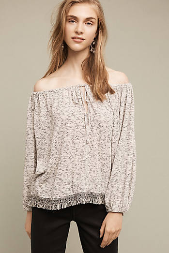 Trailward Off-The-Shoulder Peasant Top