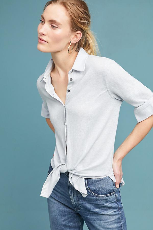 Marissa Knit Shirt - Blue, Size M