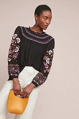 Slide View: 1: Louise Embroidered Top