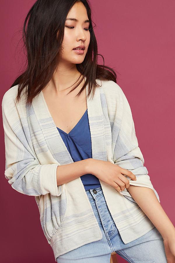 Agnija Striped Kimono, White - Neutral Motif, Size Xs/s