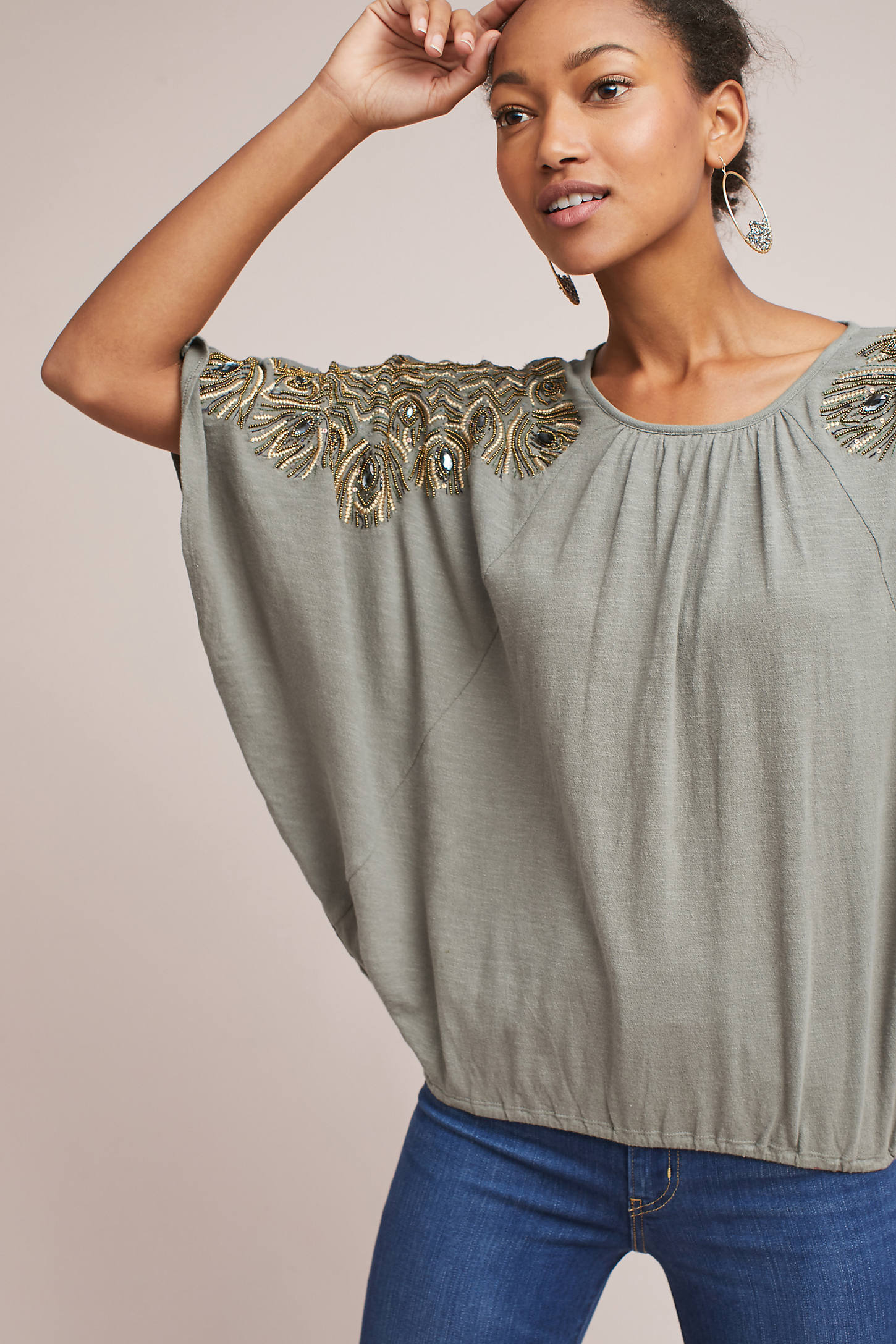 Feather-Cloaked Top