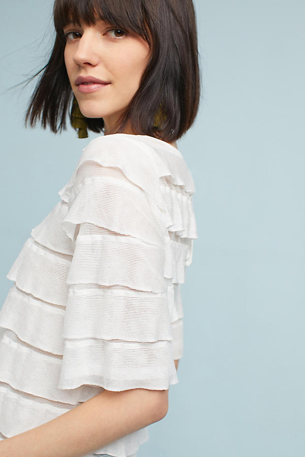 Slide View: 2: Ruffled Tiers Top