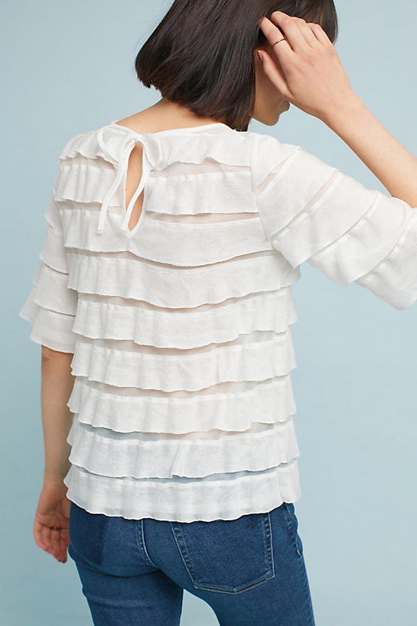 Slide View: 4: Ruffled Tiers Top