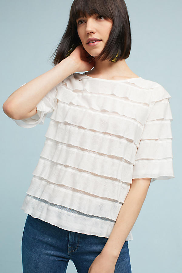 Slide View: 1: Ruffled Tiers Top