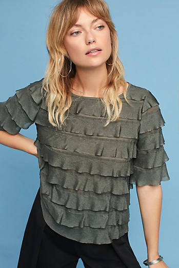 Ruffled Tiers Top