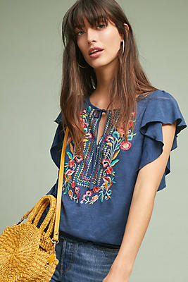 Slide View: 1: Enesta Embroidered Top