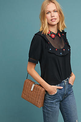 Slide View: 1: Doris Embroidered Top