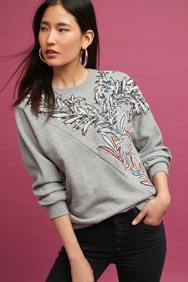 Jackie Embellished Sweatshirt, Grey by Seen Worn Kept