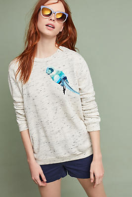 Slide View: 1: Of A Feather Embroidered Sweatshirt