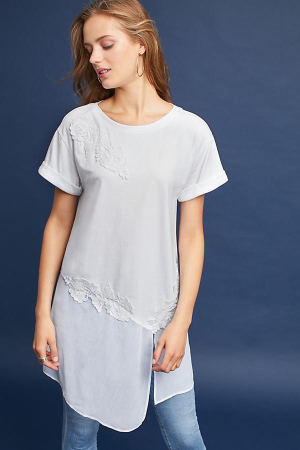Kris Lace Tunic - White, Size M